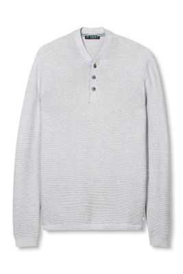 Esprit / Soft cotton sweater with a rib pattern