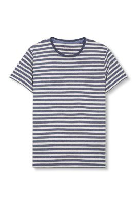 Esprit / Cotton blend jersey T-shirt with stripes