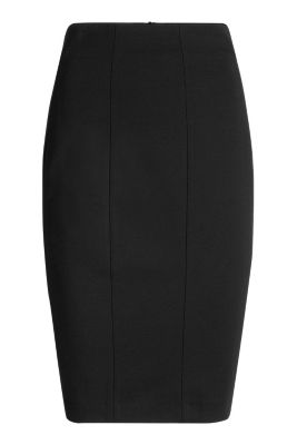 Esprit / Figure-shaping heavy jersey pencil skirt