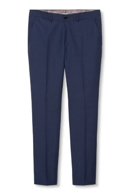 Esprit / New wool blend trousers, minimal pattern