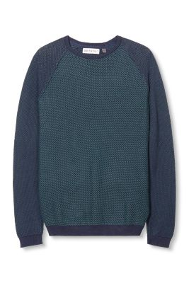 Esprit / Mixed pattern sweater, 100% cotton