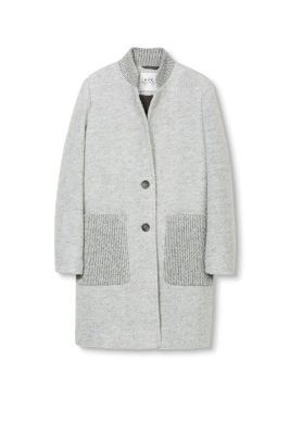 Esprit / Knitted coat in blended wool