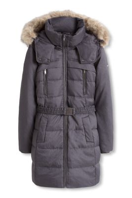 Esprit / Down coat with an adjustable hood