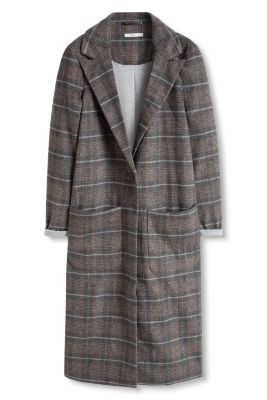 Esprit / Check coat with new wool