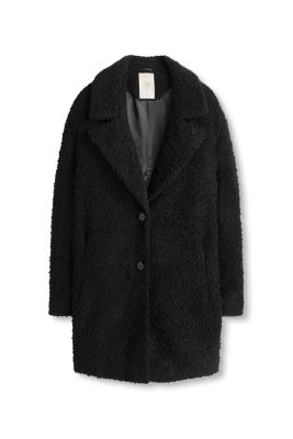 Esprit / Bouclé coat with large collar