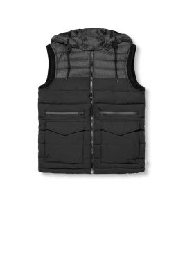 Esprit / Padded gilet with a detachable hood