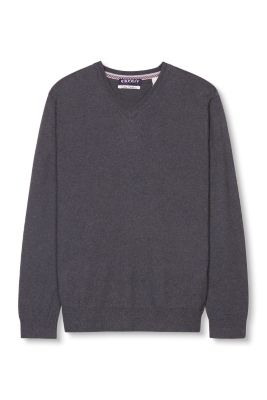 Esprit / Basic sweater in a cotton/cashmere blend