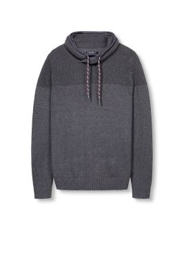 Esprit / Chunky knit cotton jumper + shawl collar