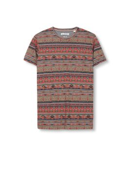 Esprit / Tribal print jersey T-shirt in a cotton blend
