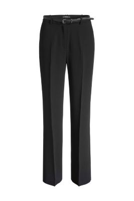 Esprit / Flowing crêpe trousers with a belt