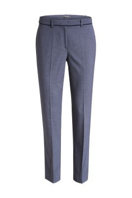 Esprit / Stretch business trousers with mini checks