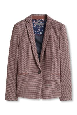 Esprit / Herringbone pattern blazer with patches