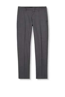 Esprit / Wool blend suit trousers with a fine texture