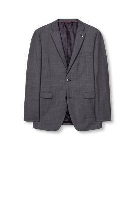 Esprit / Wool blend jacket with a fine woven texture