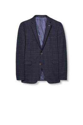 Esprit / Premium check jacket in blended new wool