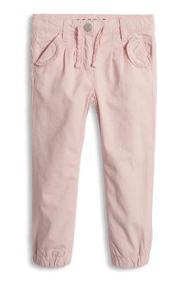 Esprit / Hose mit Spitzen-Details, 100% Baumwolle