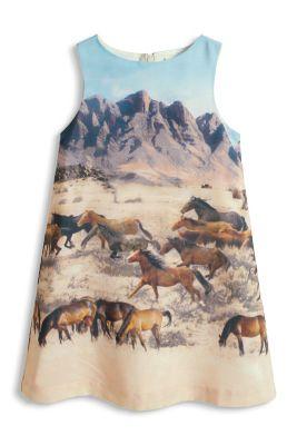 Esprit / Seidiges Kleid mit Fotoprint