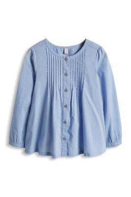Esprit / Leichte Biesen-Bluse aus 100% Baumwolle