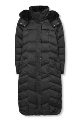 Esprit / Down coat with a zip-off hood