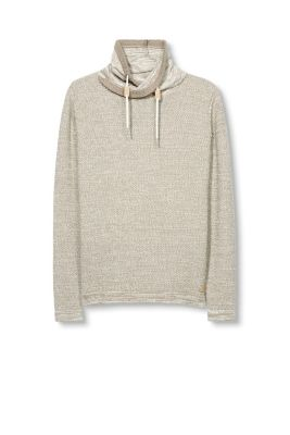 Esprit / Drawstring collar jumper, pure cotton