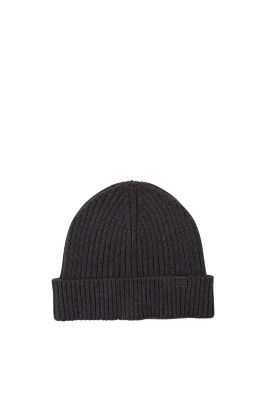 Esprit / Cotton/wool ribbed knit hat