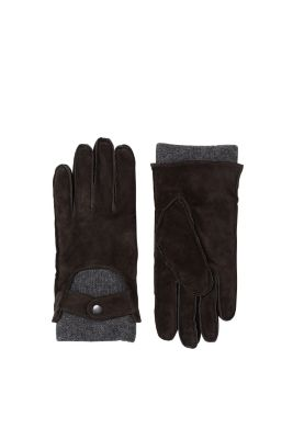 Esprit / 2in1 leather gloves with knitted lining