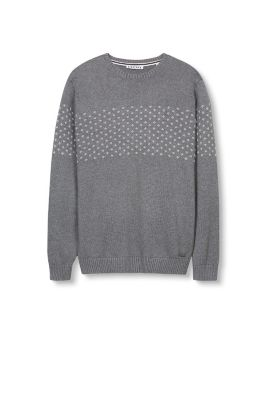 Esprit / Cotton jumper with a jacquard pattern