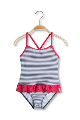 Esprit / heart stripe swimsuit