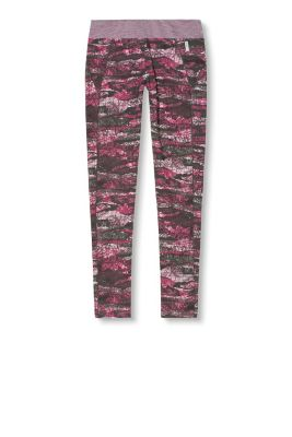 Esprit / Jersey performance sports tights with print
