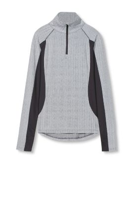 Esprit / Funktions Sport Longsleeve mit Muster-Mix