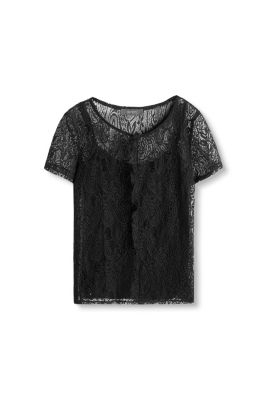 Esprit / Lace T-shirt plus top