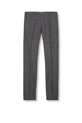 Esprit / Blended cotton glencheck chinos
