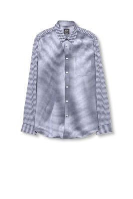 Esprit / Checked crêpe shirt, 100% cotton