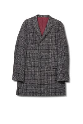 Esprit / Padded blended wool glencheck coat