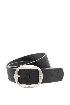 Esprit / Breiter Ledergürtel mit Vintage-Schnalle