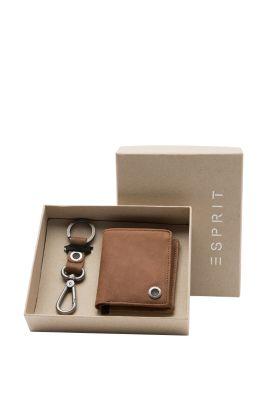 Esprit / Set mit Lederbörse und Schlüsselanhänger