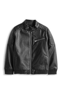 Esprit / Im Biker-Stil: Jacke in Leder-Optik
