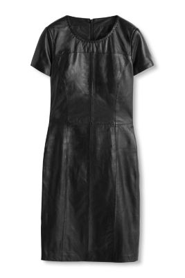 Esprit / Shift dress in butter soft leather