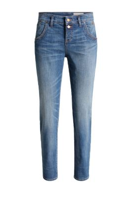 Esprit / Stretch-Denim in neuem Girlfriend-Look