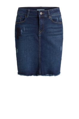 Esprit / Minirock aus Stretch-Denim im Used-Style