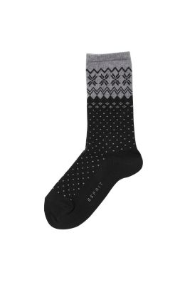 Esprit / Cotton blend socks + Norwegian pattern