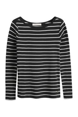 Esprit / 100% cotton striped long-sleeved top