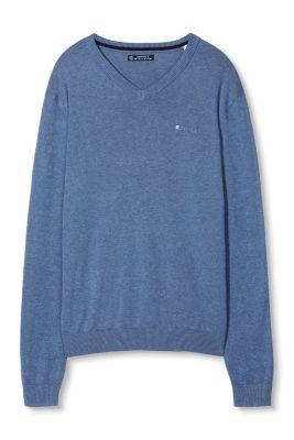 Esprit / Basic V-Neck Pulli, 100% Baumwolle