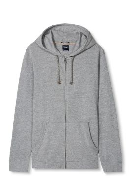 Esprit / mottled sweatshirt hoodie in blended cotton