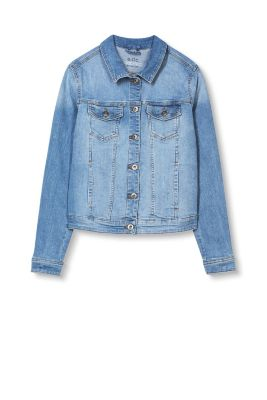 Esprit / Distressed Jeans-Jacke mit Stretch