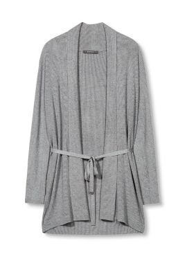 Esprit / Ripp-Cardigan mit Stretch