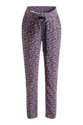 Esprit / Floaty trousers with under-bump waistband