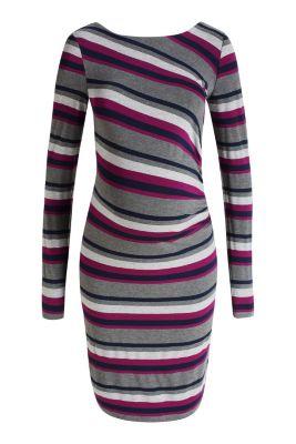 Esprit / Jersey-Stretch-Kleid im Blockstreifen-Look