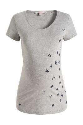 Esprit / Loungewear-shirt van een katoenmix