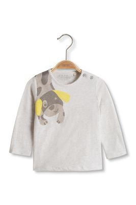 Esprit / Long sleeve top + dog, organic cotton
